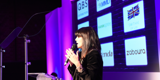 claudia winkleman presenting the PCR Awards 2020